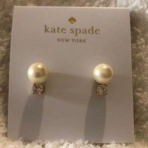 Kate Spade Crystal & Imitation Pearl Earrings NWT